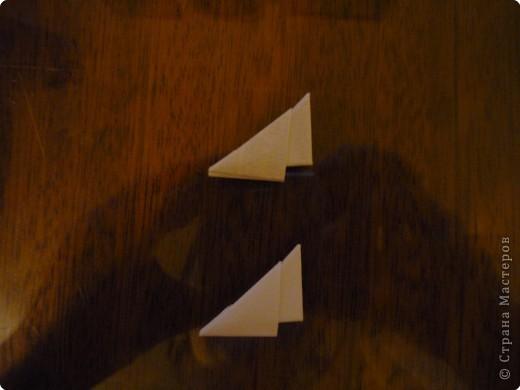 Китайский дракон:  Всего использовано 811 треугольных модулей размером примерно 37×53 мм. Это примерно около 26 листов формата А4. фото 10