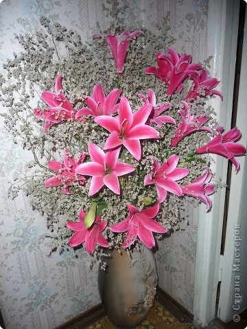 Фото букетов лилии в домашних условиях - Gomdm.com