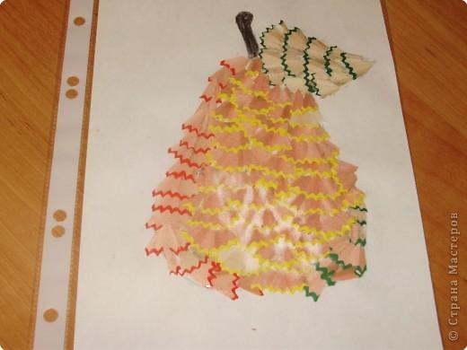 фрукты и овощи из карандашной стружки