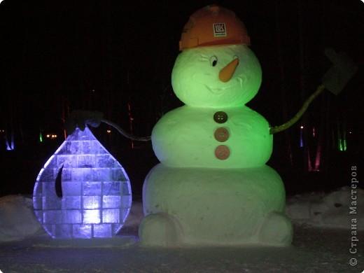 Скульптура Новый год Фигуры из снега и льда фото 5