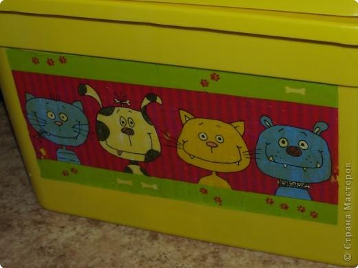 Декупаж: Ящик для игрушек фото 1