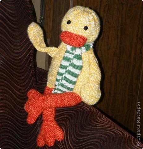 Это моя первая вязаная игрушка.  фото 1