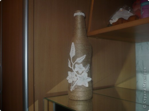 Макраме: ваза с цветами