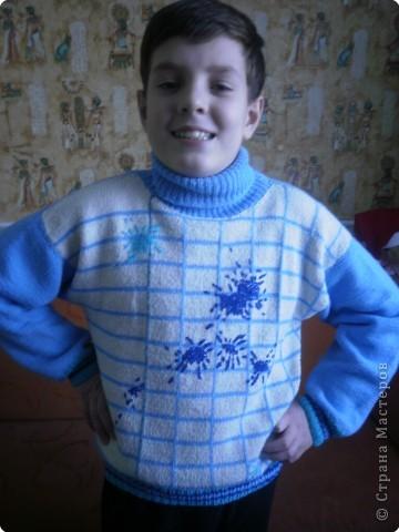 Вязание спицами: Кляксы из ниток.