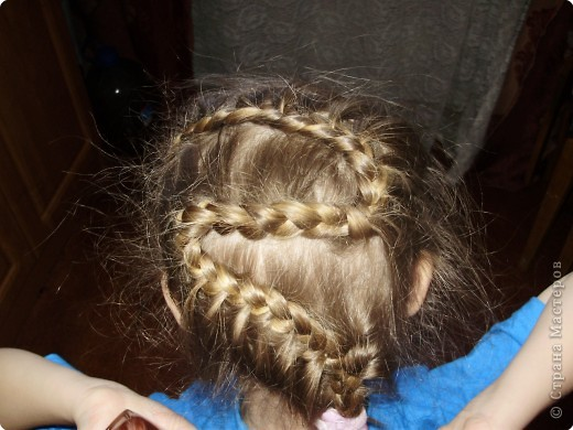Попробовала еще одно плетение косички. Вроде получилось. фото 1