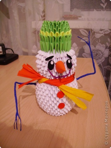 Оригами модульное: Наш снеговик фото 1