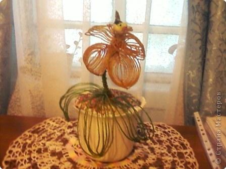 Бисероплетение: Орхидея из бисера фото 1