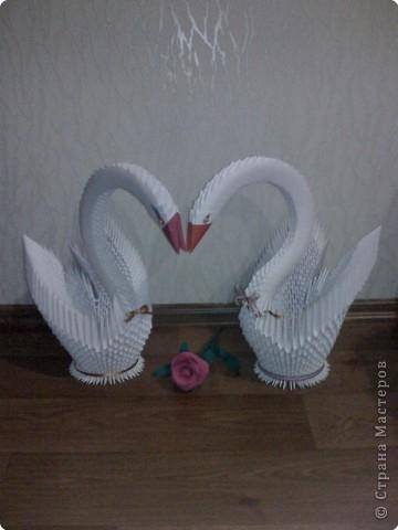 наконец-то сделала пару для первого лебедя:)