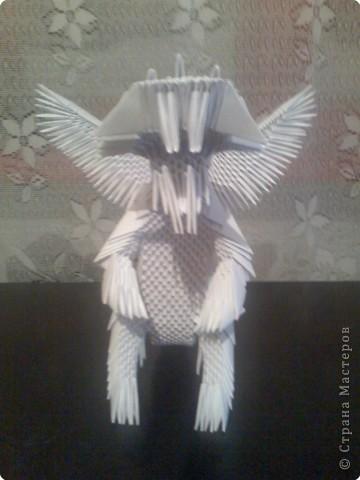 Оригами модульное: Дракон из модулей фото 1