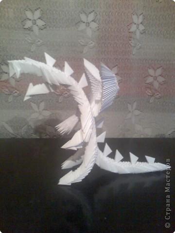 Оригами модульное: Дракон из модулей фото 2