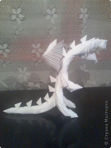 Оригами модульное: Дракон из модулей фото 3