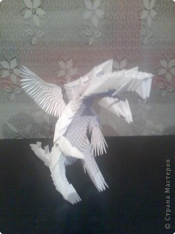 Оригами модульное: Дракон из модулей фото 6