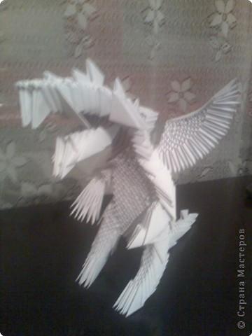Оригами модульное: Дракон из модулей фото 5