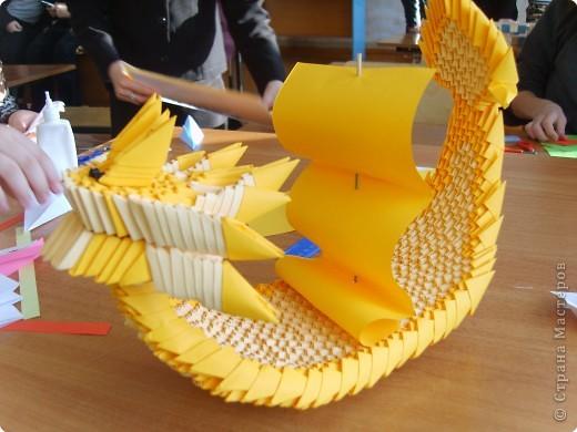 Оригами модульное: Никитина лодка фото 2