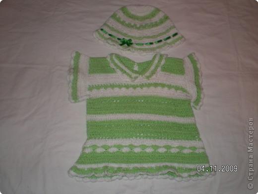 Вязание крючком: Комплект для девочки