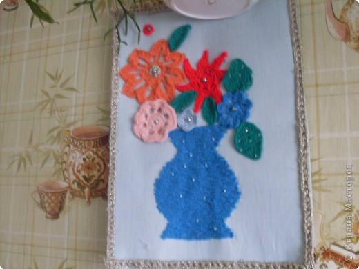 Вязание крючком: моя вазочка
