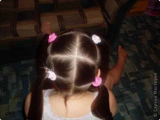 Делим волосы на два пучка... фото 2