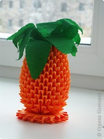 Модульное оригами - ананас-3.