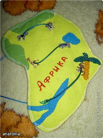 """Игрушка-шнуровка """"Африка"""" фото 1"""