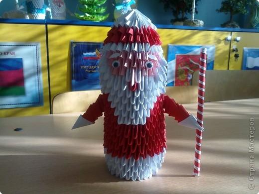 Оригами модульное: Дед Мороз фото 1