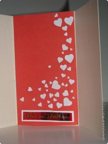 Вырезание, Вытынанка: открытка-валентинка(вытынанка) фото 4