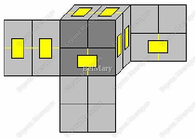 Кубик-трансформер - интересная поделка. Из этой поделки легко сделать сувенир - подвижный календарь, или головоломку по сбору из отдельных кусочков изображения единой картинки. На сторонах кубика можно разместить 9 разных картинок - шесть квадратных снаружи и три прямоугольных внутри. фото 4