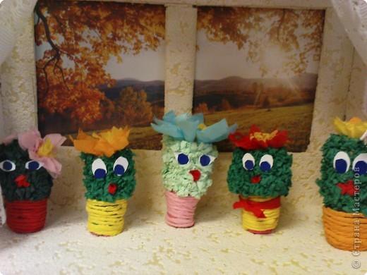 Спасибо Т. Просняковой за великолепную идею с кактусами. А мы с детьми решили поселить своих кактусов прямо на окошко. фото 2