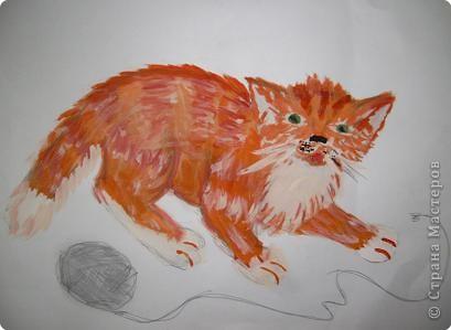 Этого Рыжика рисовала я. Я не художник, я только учусь вместе со своими ребятами. фото 1