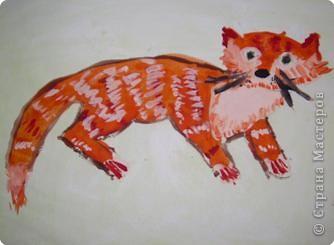 Этого Рыжика рисовала я. Я не художник, я только учусь вместе со своими ребятами. фото 5