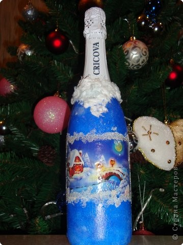 Декупаж: Наши бутылочки в подарок... фото 3
