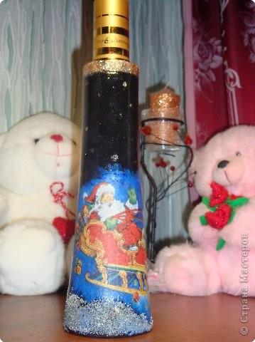 Декупаж: Наши бутылочки в подарок... фото 1