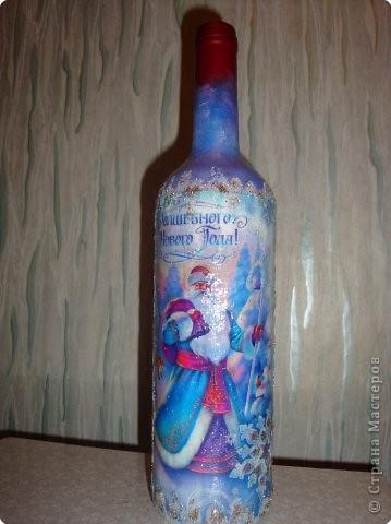 Декупаж: Наши бутылочки в подарок... фото 4
