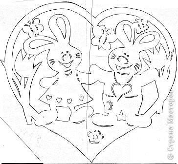 "Сердечко ""Милые зайчишки"" фото 2"