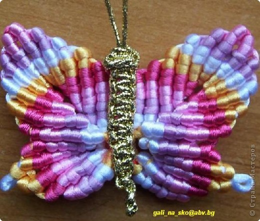 Макраме бабочка Нитки