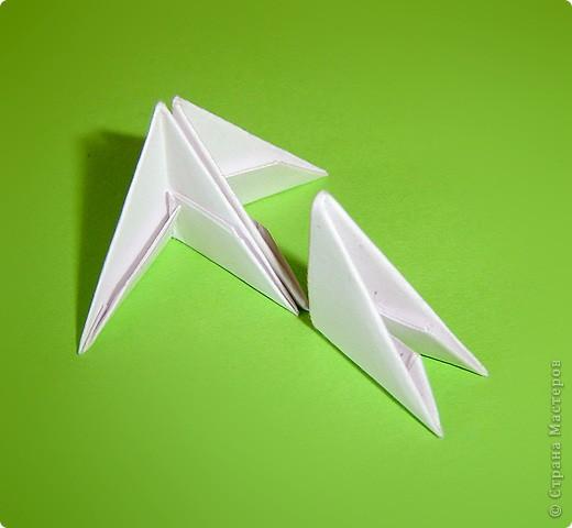 Мастер-класс Оригами китайское модульное Мастер-класс двойного лебедя Бумага фото 3