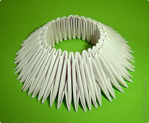 Мастер-класс Оригами китайское модульное Мастер-класс двойного лебедя Бумага фото 4