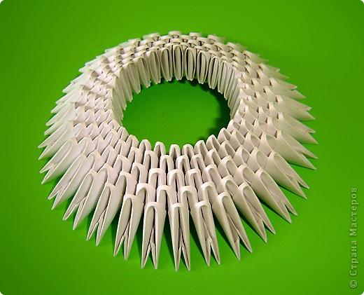 Мастер-класс Оригами китайское модульное Мастер-класс двойного лебедя Бумага фото 5