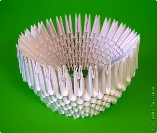 Мастер-класс Оригами китайское модульное Мастер-класс двойного лебедя Бумага фото 6