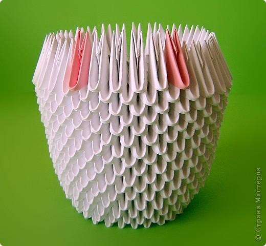 Мастер-класс Оригами китайское модульное Мастер-класс двойного лебедя Бумага фото 8
