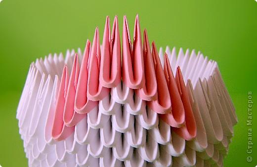 Мастер-класс Оригами китайское модульное Мастер-класс двойного лебедя Бумага фото 9