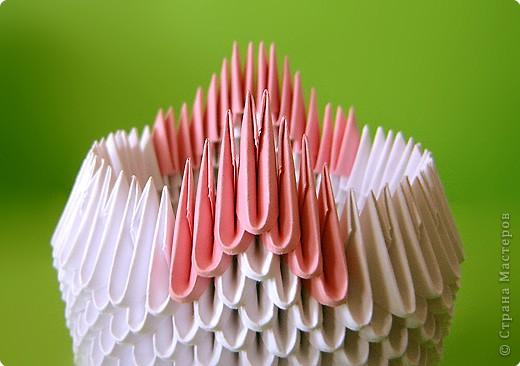 Мастер-класс Оригами китайское модульное Мастер-класс двойного лебедя Бумага фото 10