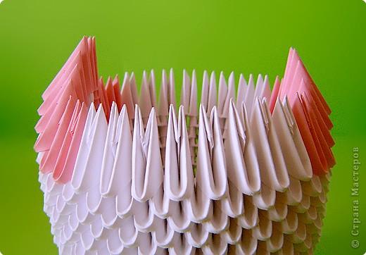 Мастер-класс Оригами китайское модульное Мастер-класс двойного лебедя Бумага фото 11