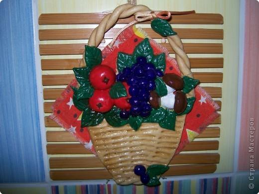 Лепка: фруктовая корзиночка