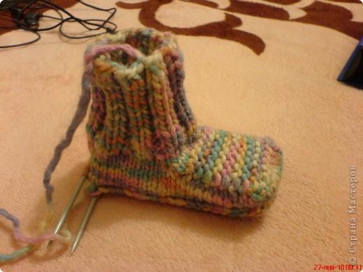 Вязание: Самые простые пинетки. МК. фото 9