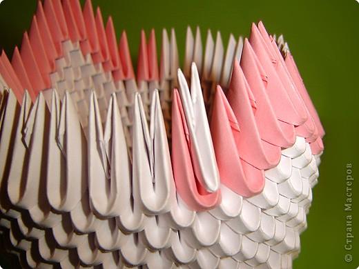 Мастер-класс Оригами китайское модульное Мастер-класс двойного лебедя Бумага фото 12