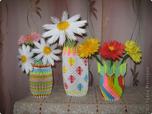 Вот такая ваза с цветами у меня получилась. фото 2