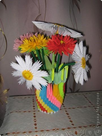 Вот такая ваза с цветами у меня получилась. фото 1