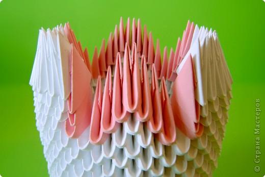 Мастер-класс Оригами китайское модульное Мастер-класс двойного лебедя Бумага фото 15