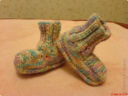 Вязание: Самые простые пинетки. МК. фото 1