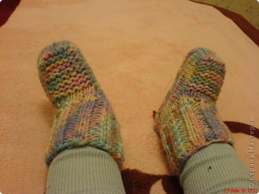 Вязание: Самые простые пинетки. МК. фото 14